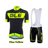 2016 ALE Team Cycling Jersey Fluorescent color cycling jersey ropa ciclismo novelty cycling jersey Quick Dry MTB jersey