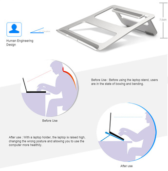 ZVRUA Universal Aluminum Alloy Tablet Holder For Macbook Pro Laptop Stand Holder Accessories For iPad Pro 12.9 Metal Support 1