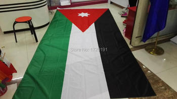 Flags of the World Free Shipping Toys fabrics 180CM * 360CM Home Decoration vessels flying the flag of Jordan 6FT * 12FT