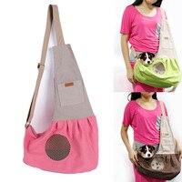 Nature Canvas Single Shoulder Dog Cat Carrier Pet Sling Bag Pet dog cat Satchel Travelling bag Leisure style Breathable bag