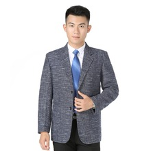 WAEOLSA Men Elegance Blazers Gray Red  Khaki Suit Jackets Man Notched Collar Outfits Business Casual Blazer Male Office XL