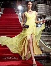 free shipping party gown robe de soiree vestido festa longo 2014 new hot sexy v-neck salomon zuhair murad evening dresses