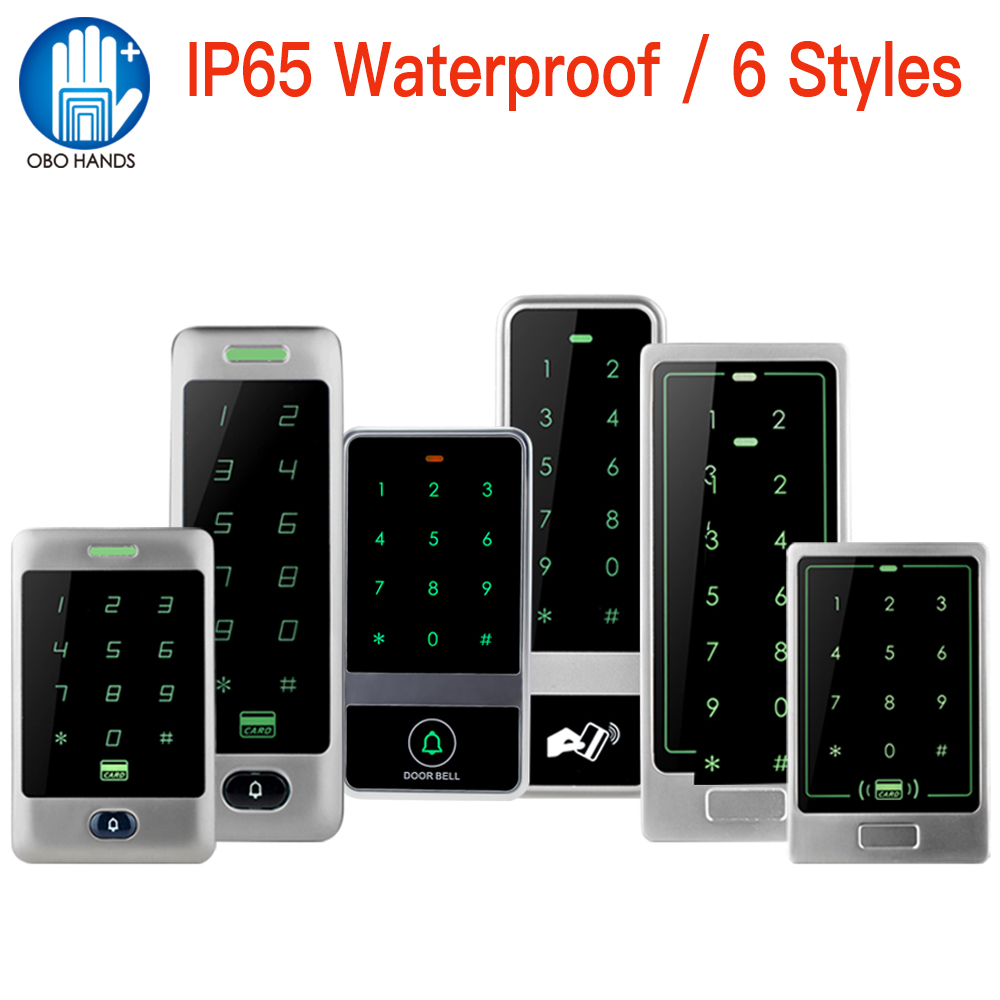 IP65 Waterproof RFID Standalone Access Control Board 125KHz EM Reader Security Touch Metal Keypad 10 Key Fobs Data Copy WG26/34