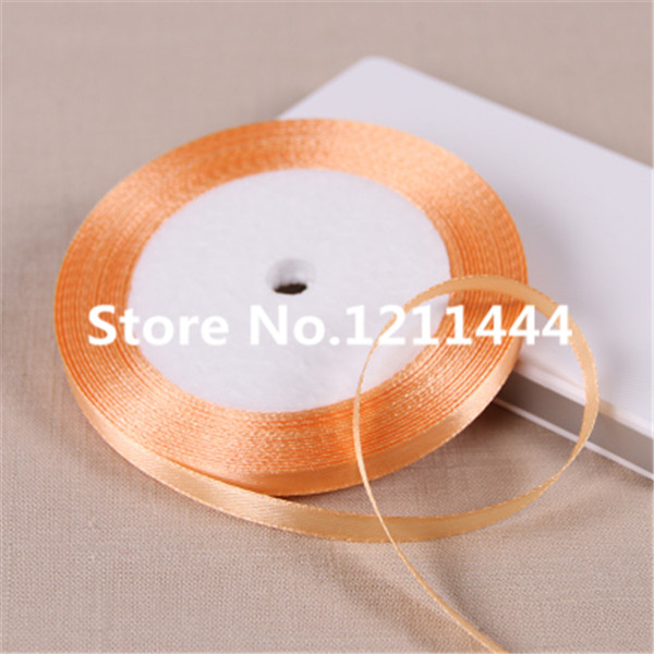 New 97# 0.6cm Wide 25Yards/Roll Orange Yellow Ribbons for Christams Gifts/ Wedding /Birt ...