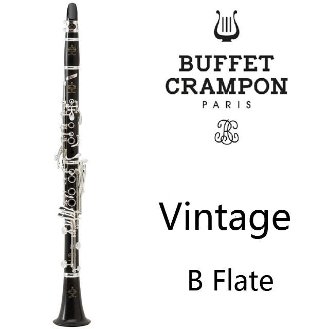 New Buffet Vintage Series Crampon Professional Wood Clarinet Ebony Professional Clarinet A Student Model Bakelite