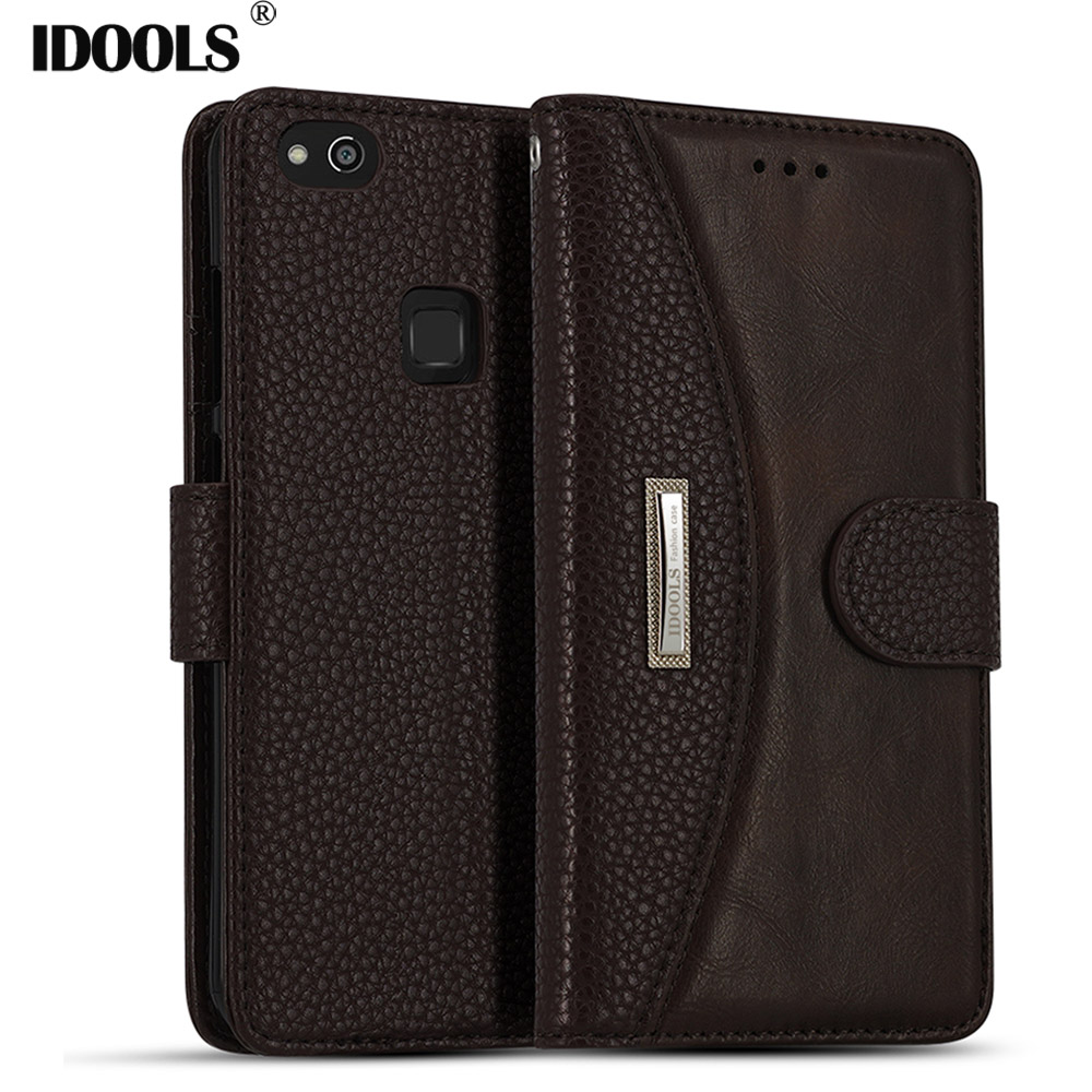 IDOOLS Case for Huawei P20 Lite Luxury PU Leather Magnetic Dirt Resistant Cover Phone Accessories Bags Cases for Huawei P10 Lite
