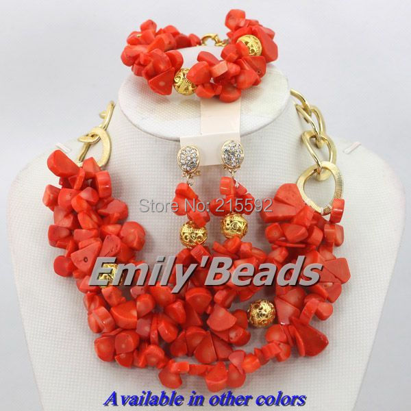 Pink African Coral Beads Jewelry Set Nigerian Wedding African Beads Jewelry Set African Costume Jewelry Set Free Shipping CJ159 african symbolism
