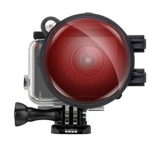 Image 5 - Filtro de corrección de Color Magenta rojo con lente Macro 16X para Gopro Hero 7 6 5 funda carcasa negra submarina juego de filtros para lentes