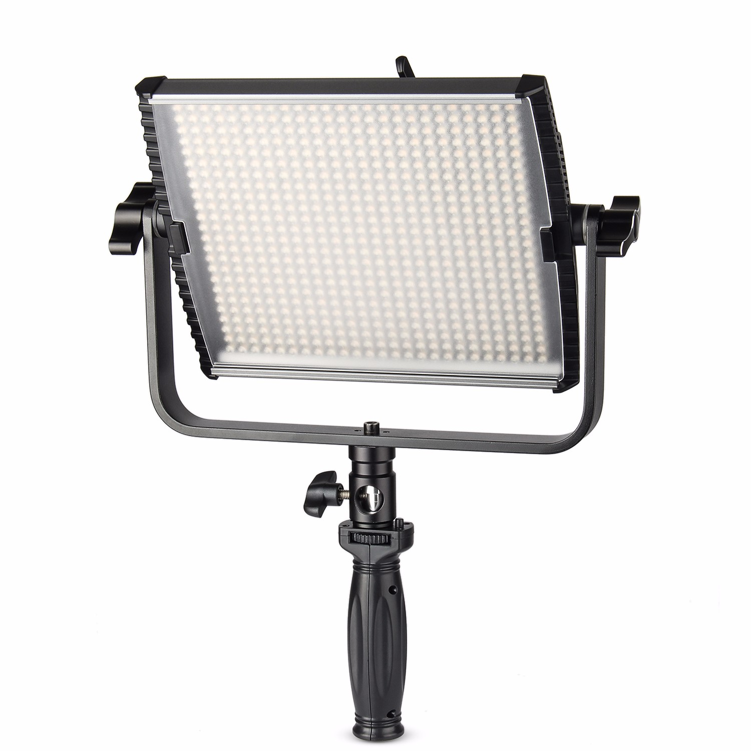 EACHSHOT ES600D CRI95 600 PCS Bulb 36W Daylight Dimmable Led Video Continuous Light Aluminum Panel w 99 Channels Remote Control in Photographic Lighting from Consumer Electronics
