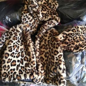 Image 5 - 2019 Winter Infant Baby Girl Clothes Faux Fur Coat Warm Kids Jacket Xmas Snowsuit Leopard Print Outerwear Cotton padded Children