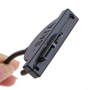 Image 5 - Yeni harici USB SATA 13Pin (7 + 6) dizüstü bilgisayar DVD CD ROM optik sürücü adaptör kablosu