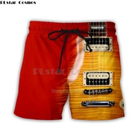 Guitar Art Musical Instrument 3d Full Printing Fashion Short Pant 3d Print Hip Hop Style Shorts Streetwear Casual Summer Style-2