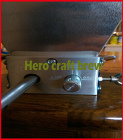 hand craft home brew malt grain wheat mill machine brewed beer machine with double Stainless rollers home brewing