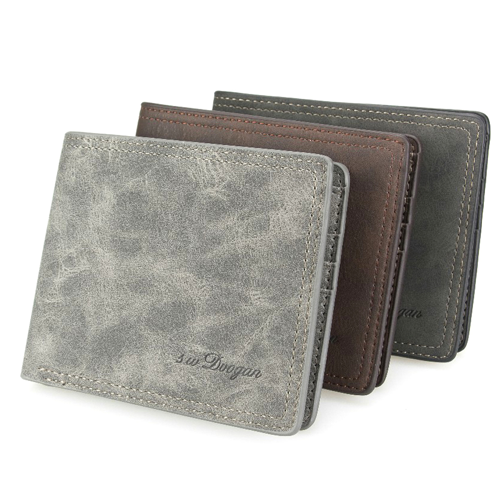 Classic Men Wallet Leather Wallet Card Holder Minimalist Money Purse Vintage Short Wallet Mans Wallets Bifold Carteira