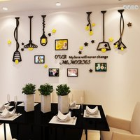 New Fashion 3D Chandelie Photo Frame Wall Sticker Of Dinning Room Decoration