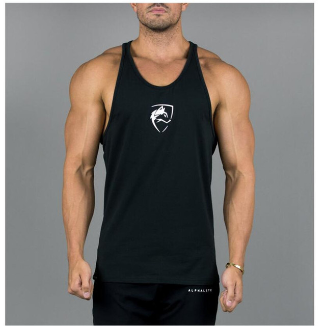 Mens Tank Top 2018 New Gyms Fitness Bodybuilding Workout Crossfit Brand Clothing Cotton Sleeveless Shirt Jogger Print ALPHAETE