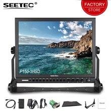 Seetec P150-3HSD 15 »SDI широковещательный монитор HD 1024×768 пленка на экран lcd Камера поле профессиональная портативная рация с 3g SDI HDMI AV YPbPr, HDMI, DVI