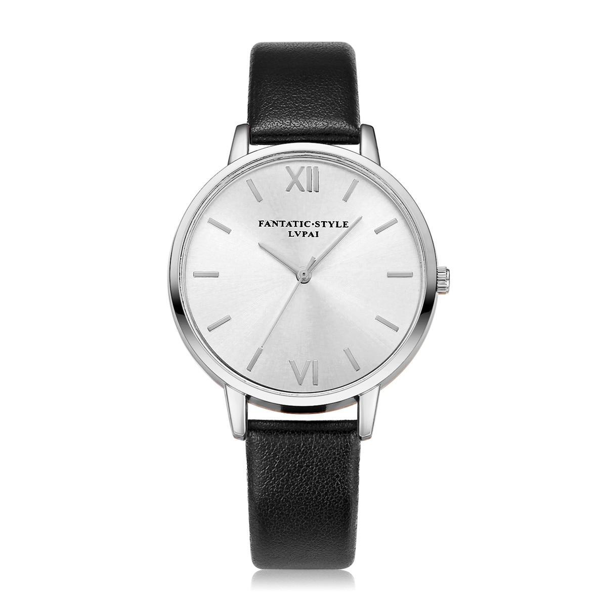 Lvpai New Designer Rose Gold Roman Women Watches Brand Luxury Round Fashion Popular Wristwatch Female Quartz Clock Watch