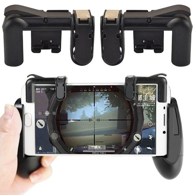 Para controlador de PUBG Gamepad almohadilla de juego Joystick disparador de juego teléfono móvil Botón de fuego L1R1 Aim Key para iphone Android fortnit