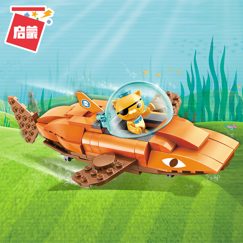Octonauts Building Block GUP-B Tiger Shark Vehicle & Kwazii 113pcs Educational Bricks Toy For Boy Gift