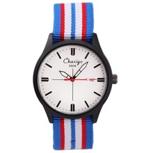 CHAXIGO Marca Top 2016 Relógios de Quartzo Das Mulheres Colorido Banda Nato Relógio Ocasional Relógio Feminino Relógio Relojes Hombre Relogio masculino