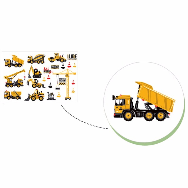 Transport Cars – Trucks – Digger Wall Stickers