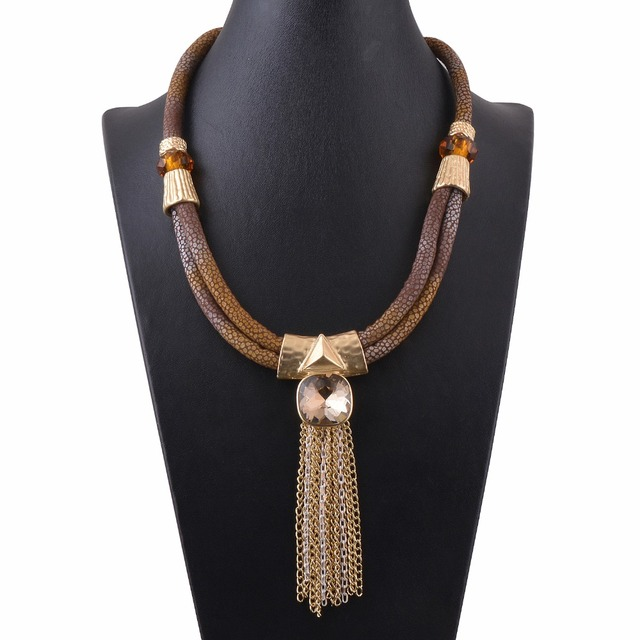 Elegant Gold Plated Vintage Choker Necklace