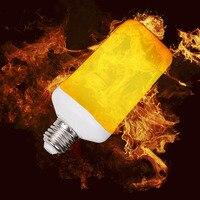 E26 E27 הוביל הנורה להבה אפקט נורות אמולציה מהבהב להבת אש אש מנורת AC85-265V 5 W הנורה להבה