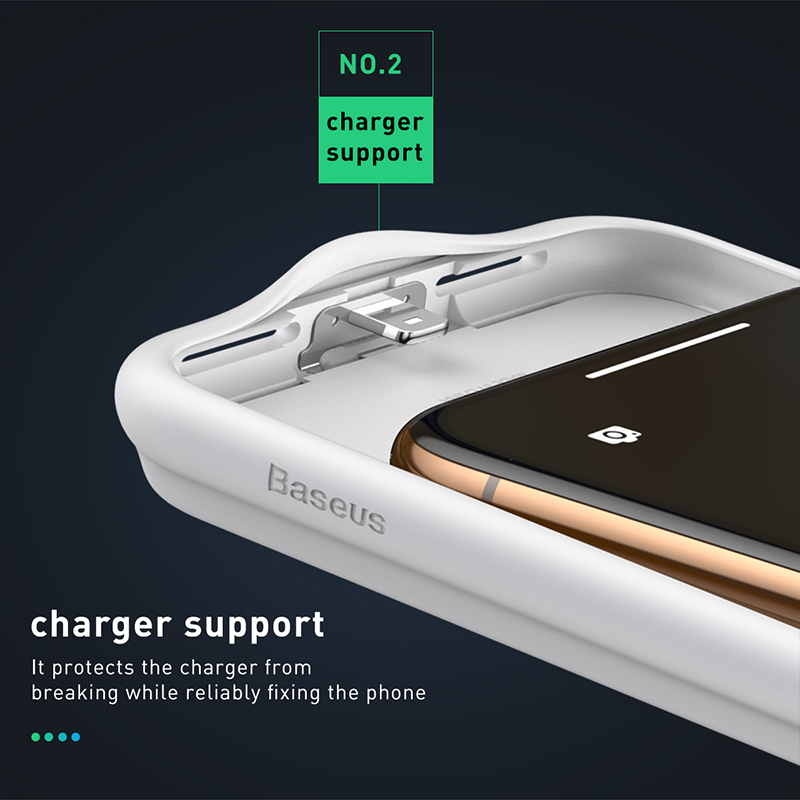 Image 5 - Baseus 3300mAh Power Bank Case Charging For iPhone X/XS XR XS Max Battery Case Charger Case Power Bank Charger Case Mobile Phone-in Battery Charger Cases from Cellphones & Telecommunications