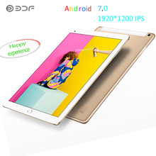 BDF 10.1 Inch 1920*1200 IPS Android 7.0 4G Octa Core 3GPhone Call Sim Card Tablet Pc  Android Tablet Pc 2GB RAM + 32GB Rom