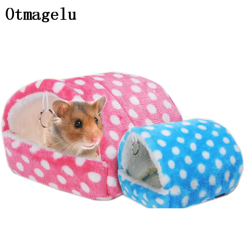 Mini Small Pet house cage winter warm nest Cave Tunnel Toy Tubes for Hedgehog Hamster Squirrel Animals Accessories Pet Supplies