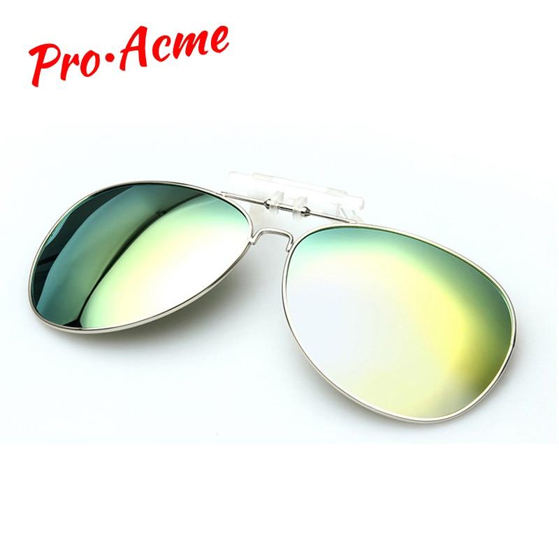 Pro Acme gepolariseerde clip op zonnebril mannen rijden dag en - Kledingaccessoires