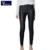 2016 Señoras de LA PU Pantalones de cuero de Moda Nueva primavera Elegante Leggings salvajes lápiz pantalones Delgados pies de diseño de marca pantalones de las mujeres