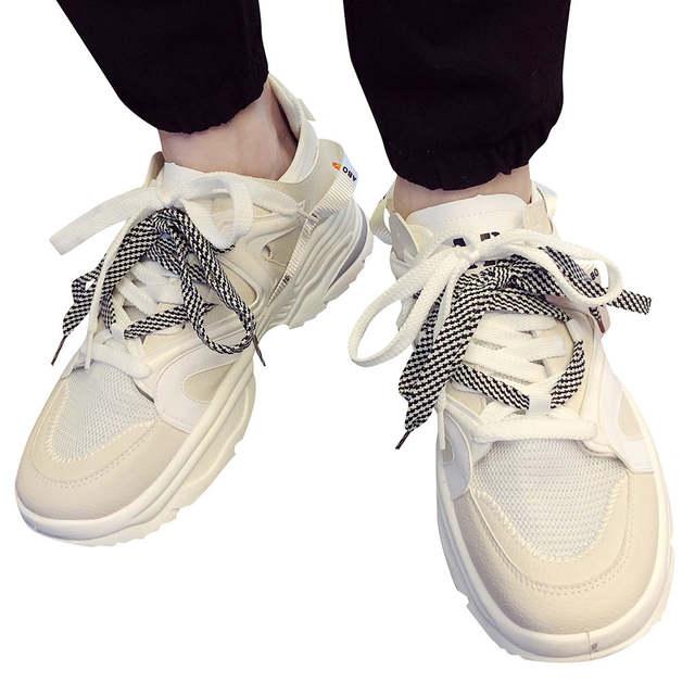 Trainer Paare Männlichen Hombre der Schnürsenkel Turnschuhe Zapatillas Männer Männer Laufschuhe Mans Schuhe Schuhe Buchstaben Schuhe Doppel roexWdCB