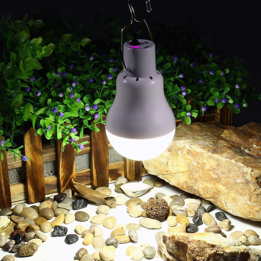 New Portable Solar Light Bulb Led Rechargeable Hanging Lamp Home Energy Lighting Fishing Lights Outdoor Hiking Camping Tent