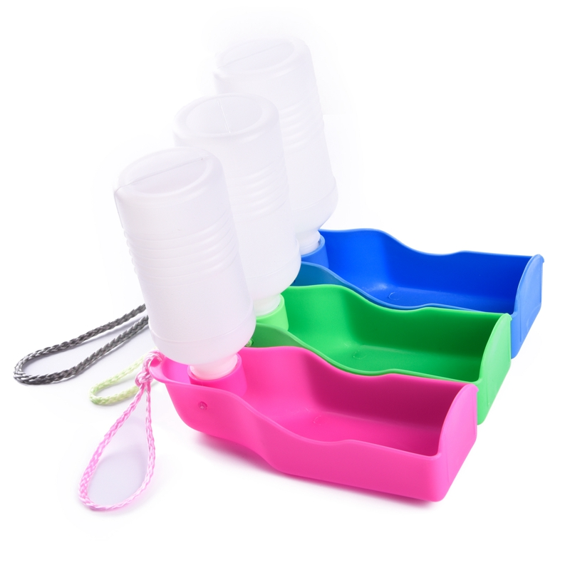 Envío Libre Colorido de la Botella de Consumición Del Animal Doméstico de Agua d