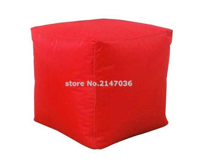 Color rojo relleno de espuma otomana, bolsa de frijol impermeable ...