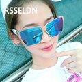 RSSELDN  New Brand Sunglasses Women Vintage Summer Style Flat Panel Lens sun glasses gafas de sol UV 400 High-end Women Sunglass
