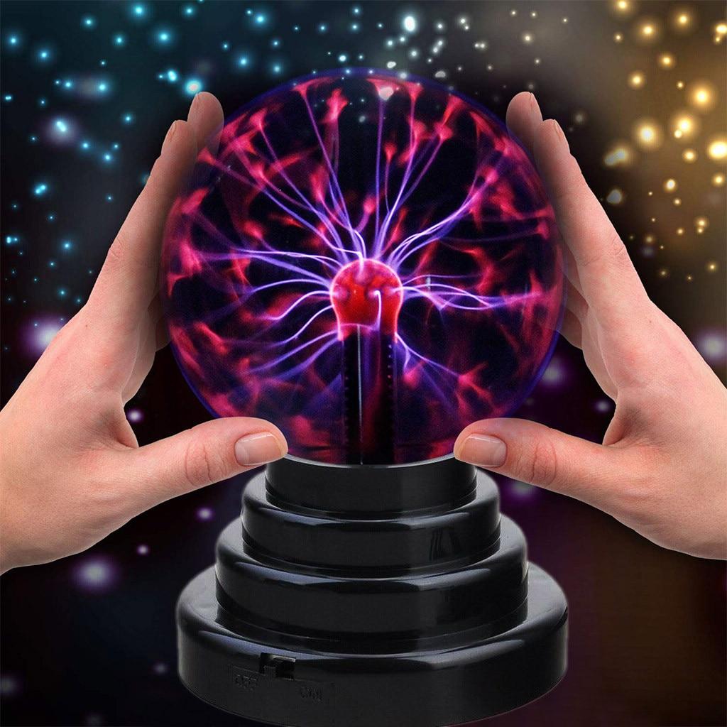 2019 New Plasma Ball Light Sensitive Lightning USB/Battery Operated Child Gift Decoration Magic Lightning Ball Night Light