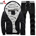 New Men Sudaderas Hombre Hip Hop Mens Brand Letter Hooded Zipper Hoodie Sweatshirt trackSuit Men Hoody 2pcs set clothing+pant