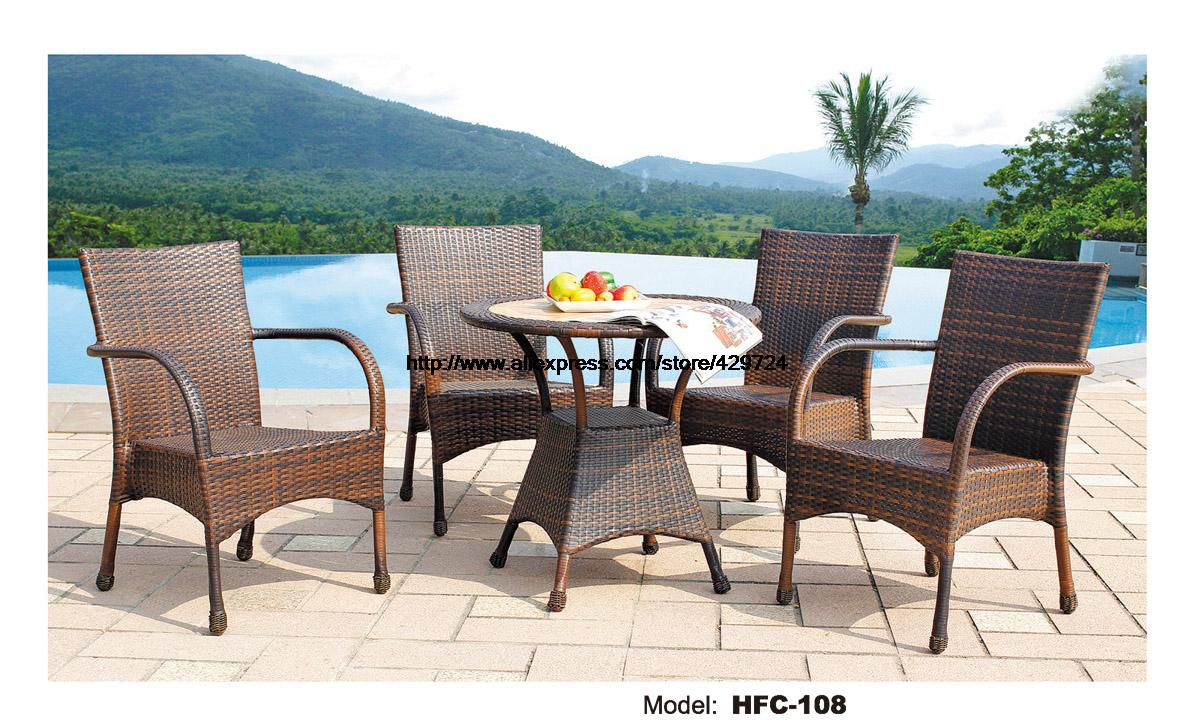 Cheap Garden Table And Chairs Part - 27: High Back Rattan Chairs 80CM Round Small Table Leisure Swing Pool Garden  Furniture Set Hot Sale Factory Direct Sale Furniture