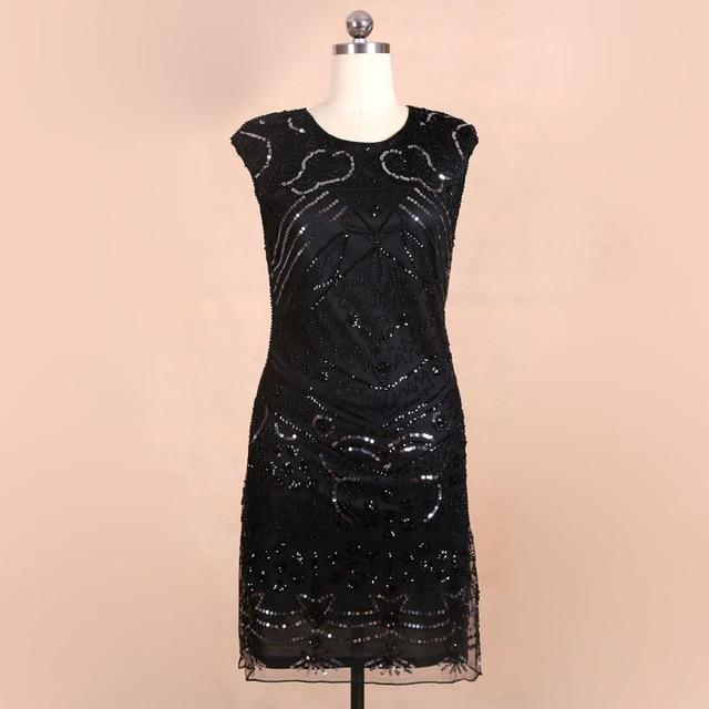 87c5b4c886 1920s Vintage Style Sleeveless Shining Sequins Embellished Flapper Dress  Party Dress