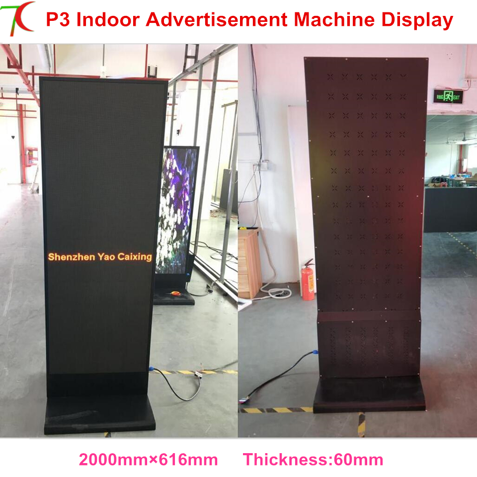 Manufacturer Sales  P3 Indoor Smd 2121 Metal  Cabinet Led Display Customized Poster