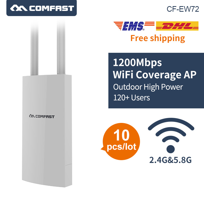 10pcs DHL Comfast 1200Mbps Gigabit 2.4+5Ghz High Power Outdoor AP Wifi Router 360 Degree Coverage Access Point Wifi Base Station