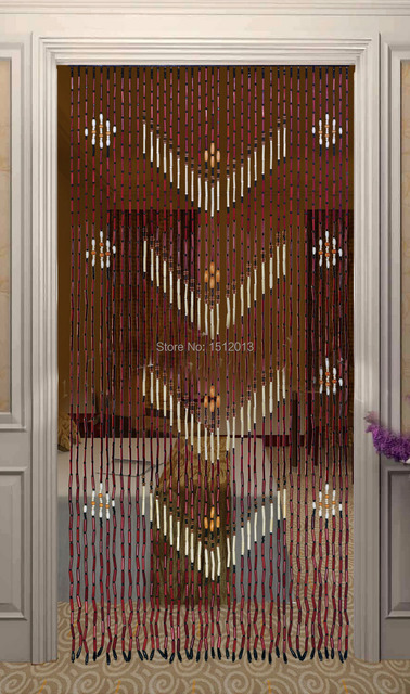 Bamboo Wood Bead Curtain Width 90cm Height 180cm Entranceway Anode Screening Home Door Decoration Partition