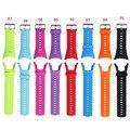 Lujo negro correa de la venda de reloj de goma de banda de reemplazo para suunto ambit 3 pico/ambit 2/ambit 1 con destornillador y tornillos