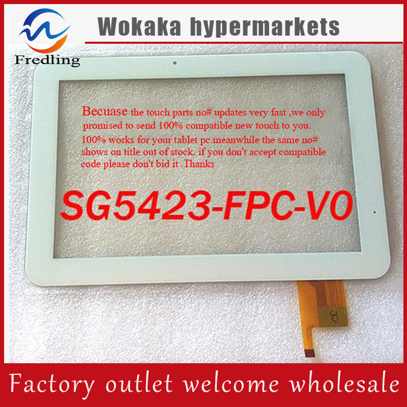 New SG5423-FPC-V0 Capacitive touch screen panel Digitizer Glass Sensor Replacement 10.1 for HyUnDai T10 Tablet Free Shipping white new 10 1 inch tablet capacitive touch screen fpc tp101030 01 touch panel digitizer glass sensor replacement free shipping