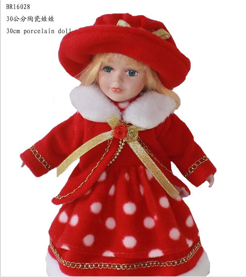 Poupées en céramique de 30 cm jouets transfrontaliers poupées de style russe préférées