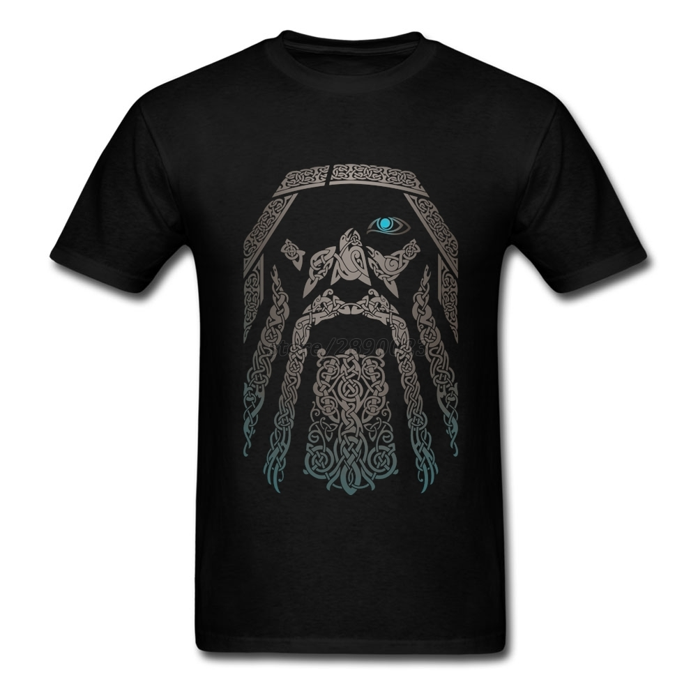Custom Odin Vikings T Shirt Men Short Sleeve O-neck Cotton Tees Shirt Unique Clothing Father's Day Gifts