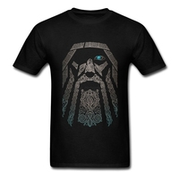 Gorgeous T Shirts Men Boy 100 Cotton Short Sleeve Odin Vikings Group Tops Clothing Men T